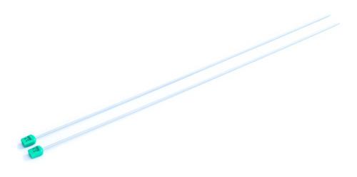 Imagen 1 de 1 de Par De Aguja Para Tejer Recta Tricot Nro. 2.5 Aluminio