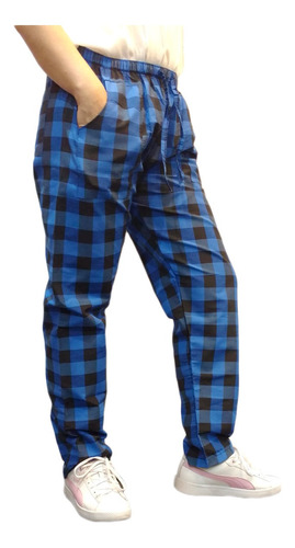 Pantalón Algodón Pijama Comodo Cuadrille Cuadros Escoces