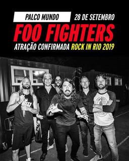 Ingresso Rock In Rio 28/9 - Foo Fighters - Inteira