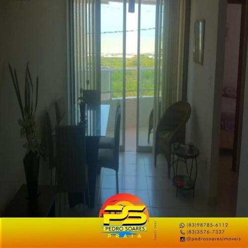(oportunidade) Apartamento Com Vista Para O Mar, 70 M² Por R$ 370.000 - Intermares - Cabedelo/pb - Ap4127