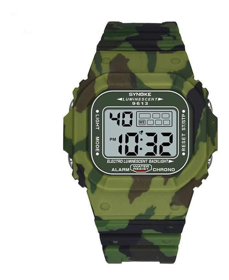 Relógio Masculino Synoke 9613 Esportivo Digital Militar Nf