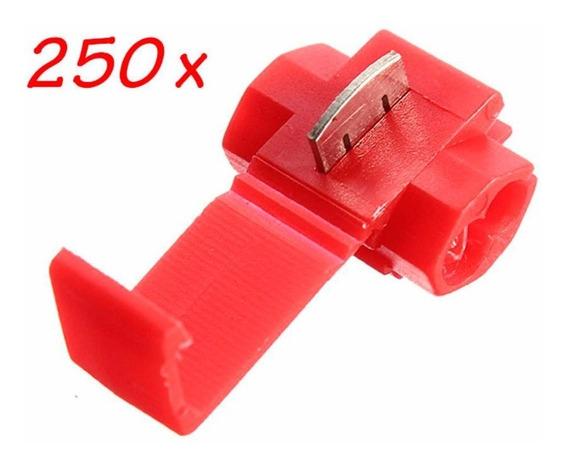 250pçs Conector Derivação Emenda Fios Vermelho 0,5 Até 1,5mm