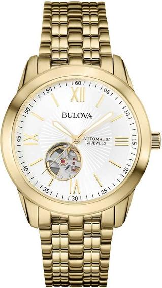Relógio Bulova Masculino Automatico Dourado Wb32004h