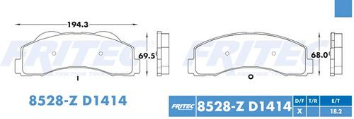 Balatas Delantero Ford F-150 2012