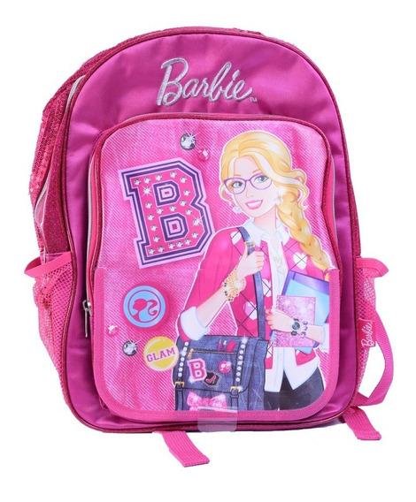 Mochila Barbie Frente Rebatible Espalda 14 Pulgadas