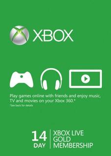 Xbox Live Codigo Global 14 Dias Trial