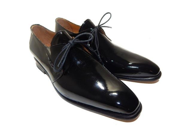 Zapatos De Charol Priamo Italy 100 % Cuero Vacuno