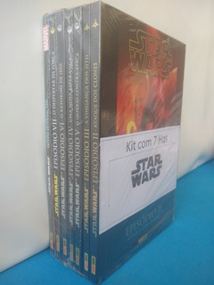 Kit Com 7 Hqs Star Wars = Frete Gratis