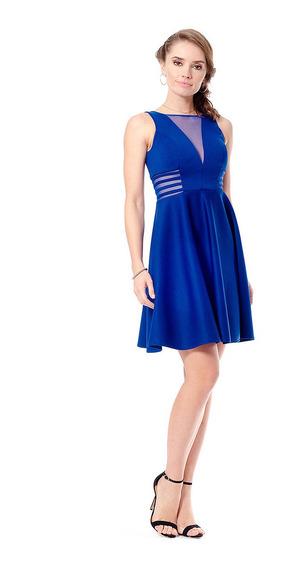 Nína Ferré Vestido De Coctel Elegante Corto Color Azul Rey