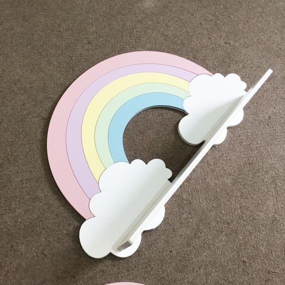 Prateleira Arco Íris Decoração Quarto Candy Collor Bebê Mdf