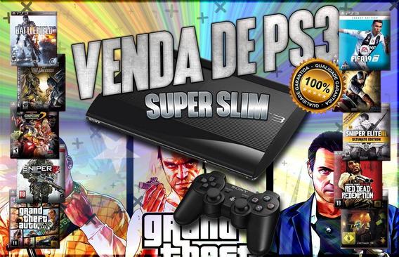 Ps3 Playstation 3 Com 30 Jogos Completos