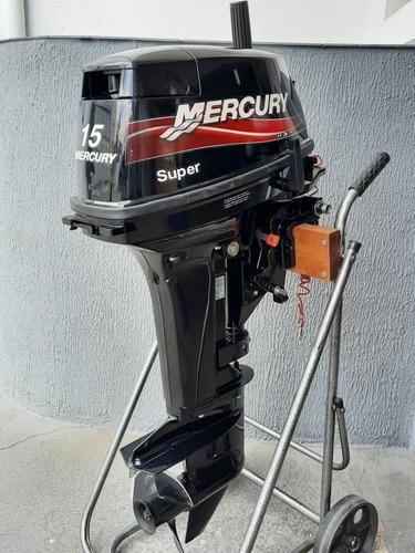 Motor De Popa Mercury 15hp Super Semi Novo