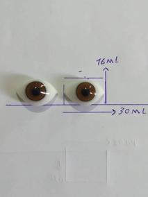 Olho De Vidro 30 Melimetros Para Escultura