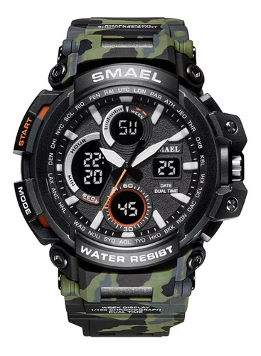 Relógio Masculino Militar Esportivo Digital Smael Original