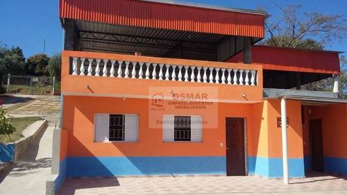 Chácara Com 2 Dormitórios À Venda, 1000 M² Por R$ 480.000,00 - Parque Da Represa - Paulínia/sp - Ch0026