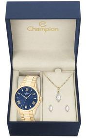 Kit Relógio Feminino Champion Cn27796k