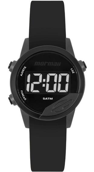 Relógio Mormaii Mude Unissex Mo4100ac/8j Cinza Negativo Lanç