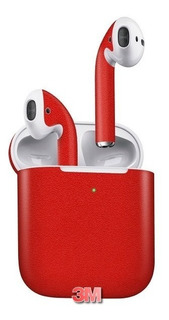 Capa Sticker Adesivo Vermelho 3m Air Pods 2 Ger. Wireless