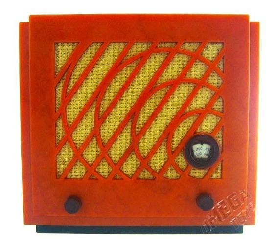Miniatura Radio Retrô Vintage 1934 Safar Usignolo Decorativo
