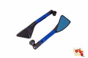 Espelho Retrovisor Esportivo Hornet Par Azul Illion