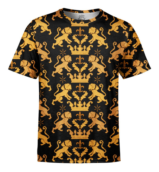 Camiseta Masculina Leão Real Estampa Digital