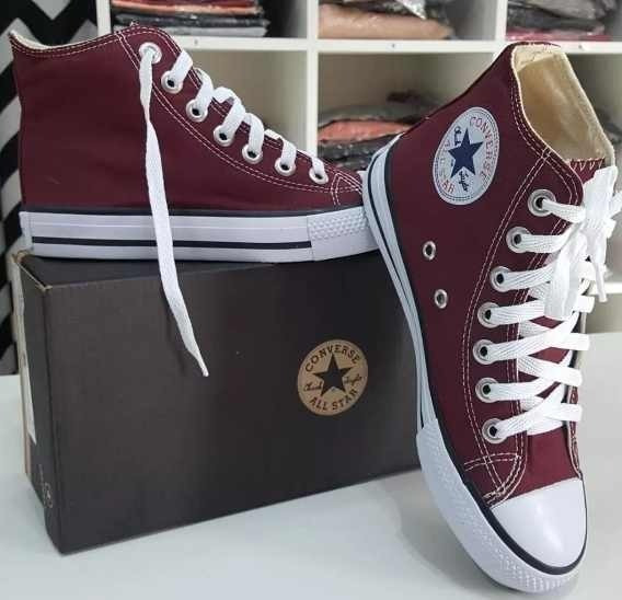 Tênis Converse All Star Ct Cano Alto Vinho Bordô