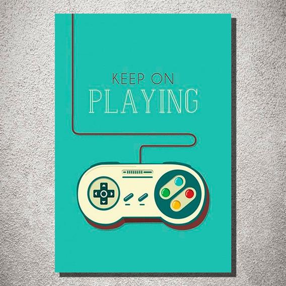Placa Decorativa Controle Super Nintendo Frase Desenho Mdf