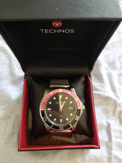 Relógio Technos Masculino Original Aço Inoxidável