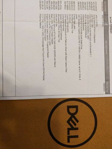 2020 Dell Xps 17 9700 Fhd I7-10875h 16gb Ram 512gb Ssd