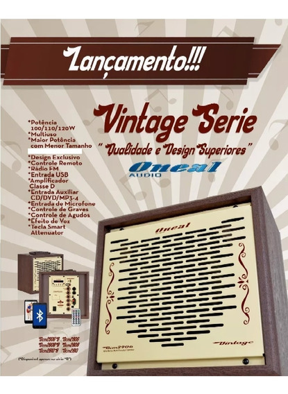 Cubo Multiuso Oneal Vintage Ocm 2908 Fal. 8 Polegadas 110w