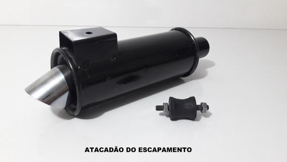 Abafador Turbinho Esportivo Ponteira Cromada+ Kit Instalação