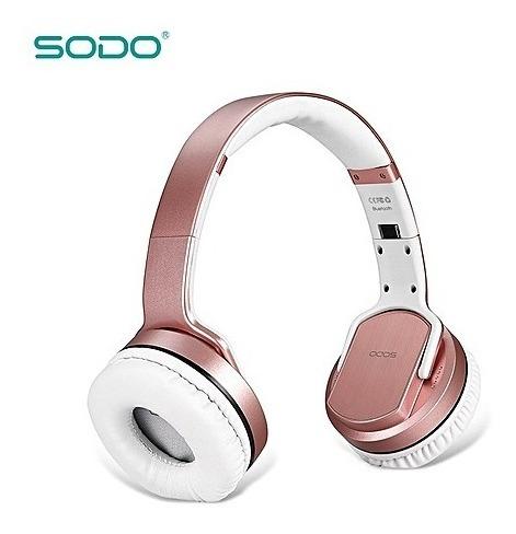 Fone Headphone Bluetooth Nfc Sodo Mh2 2 Em 1