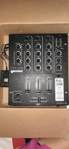 Mixer Gemini 3 Canais Usb