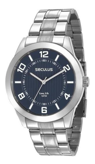 Relógio Seculus Masculino Ref: 28983g0svna2 Casual Prateado