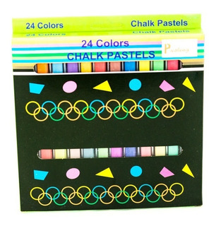 Tiza Pastel Chalk X 24 Pushing Corriente