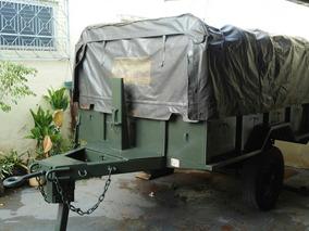 Carreta Reboque Militar 3/4 Exercito Caminhão Jipe Trator