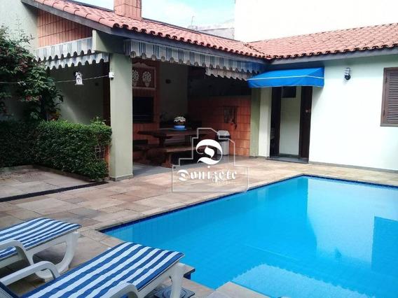 Sobrado Com 4 Dormitórios À Venda, 355 M² Por R$ 2.300.000 - Campestre - Santo André/sp - So2461