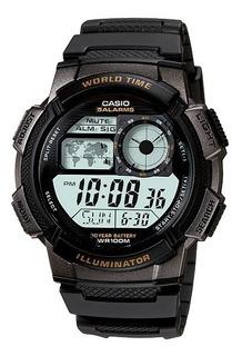 Relogio Casio Ae 1000w-cores Borracha Crono 5alarmes Ae100w