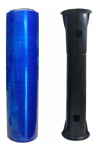 Filme Plastico Azul P/ Embalar Mala (grátis 1 Aplicador)