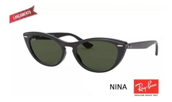 Óculos De Sol Gatinho Ray Ban Rb 4314 Nina Lançamento Femini
