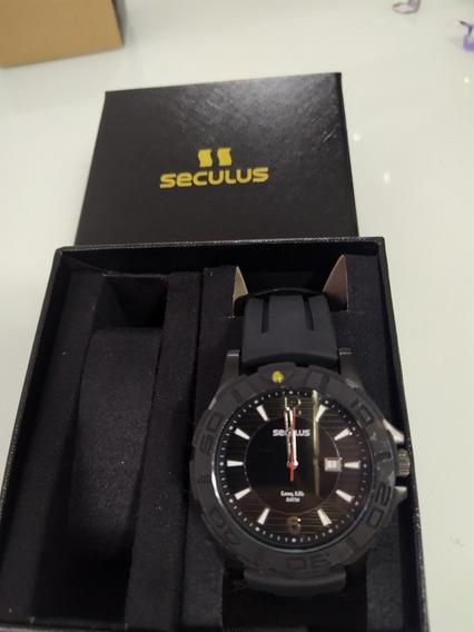 Relógio Seculus Esportivo Preto - Novo
