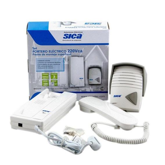 Portero Electrico Sica Kit Telefono + Frente Exterior 220v