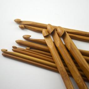 Agulha Para Crochê Bambu 12 Peças De 3mm A 10mm Pronta Entre