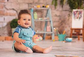 Jardineira Bebê Menino - Tamanho P - Sonho Magico