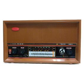 Rádio Portátil Am Fm Oc 6 Faixas C/aux Marrom Companheiro Cr