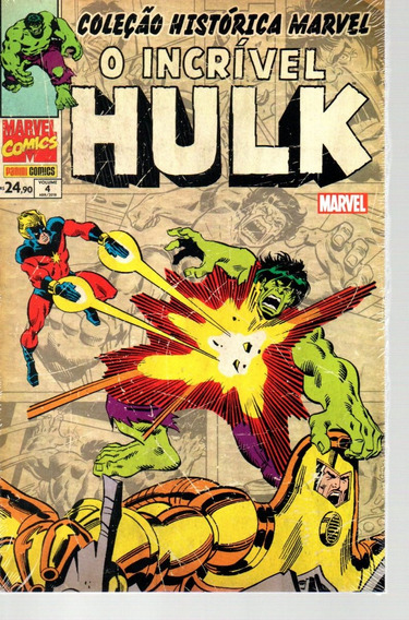 Colecao Historica O Incrivel Hulk 4 - Bonellihq Cx34 D19