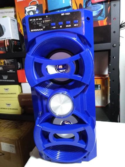 Caixa De Som Bluetooth Portátil Briwax Mf-1621