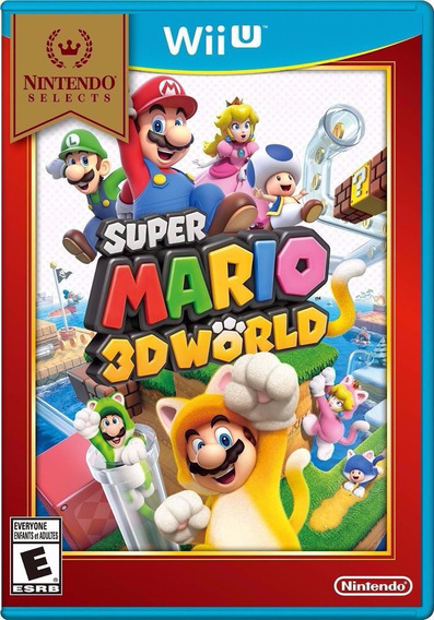 Super Mario 3d World Wii U Wiiu Nintendo Jogo Midia Fisica