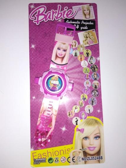 Relógio Digital Infantil Barbie Que Projeta Imagens+ Brinde