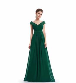 Vestido De Fiesta ( Verde, Talla 52)